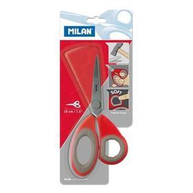 milan-tijeras-oficina-19cm-mango-de-plastico-blister-rojo