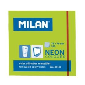 milan-bloc-notas-adhesivas-100-hojas-76x76mm-verde-neon-10u-