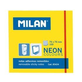 milan-bloc-notas-adhesivas-100-hojas-76x76mm-amarillo-neon-10u-