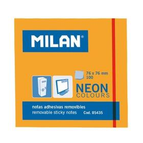 milan-bloc-notas-adhesivas-100-hojas-76x76mm-naranja-neon-10u-