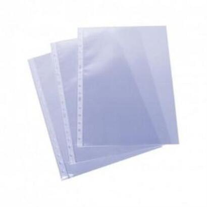 esselte-fundas-basica-multitaladro-16-polipropileno-transaparente-folio-paquete-de-100