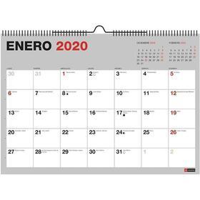 calendario-de-pared-2020-miquel-rius-28036-basics-mr-gris-din-a4-mes-vista-encuadernacion-espiral-296210mm