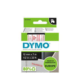 dymo-s0720520-d1-45012-tape-12mm-x-7m-red-on-clear