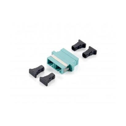 equip-156143-adaptador-de-fibra-optica-sc-turquesa-12-piezas