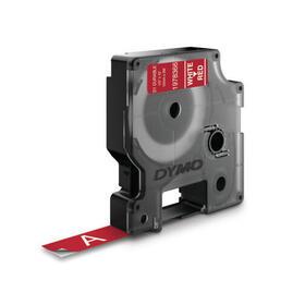 dymo-d1-etiquetas-durable-blanco-sobre-rojo-12mm-x-7m