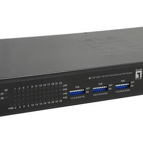 levelone-switch-24x-fe-fgp-2601-2xge-19-500w-24xpoe