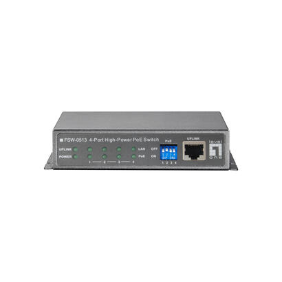 levelone-switch-4x-fe-fsw-0513z-1xfe-120w-4xpoe