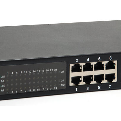 levelone-switch-26x-ge-gep-2622w500-2xgsfp-19-500w-24xpoe