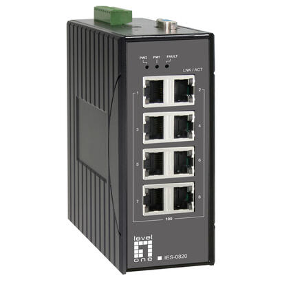 levelone-switch-8x-fe-ies-0820