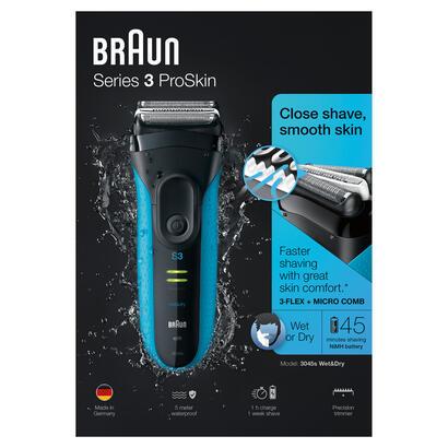 braun-series-3-proskin-3045s-maquina-de-afeitar-de-laminas-recortadora-negro-azul
