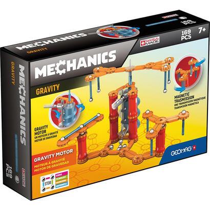 geomag-mechanics-gm773-juguete-de-iman-de-neodimio-169-piezas-azul-naranja-rojo-plata