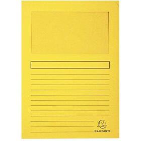 pack-100-unidades-subcarpetas-exaclair-forever-50109e-color-amarillo-a4-hojas-80gr-sin-cierre-120gm2-2231cm