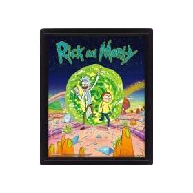 cuadro-3d-rick-morty-portal
