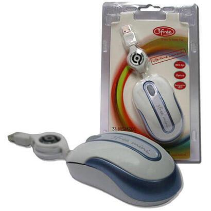 3free-mouse-mini-optico-usb-msm201wb-cable-retractil-blanco-azulplata