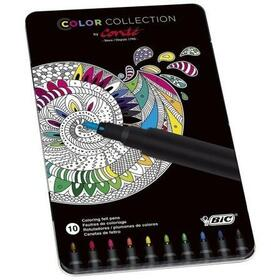 caja-metalica-con-10-rotuladores-para-pintar-mandalas-color-collection-by-conte-colores-surtidos-bic