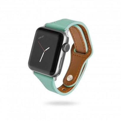 unotec-correa-cuero-verde-aguamarina-para-apple-watch-3840mm