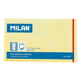 bloc-100-notas-adhesivas-milan-85501-amarillo-claro-76127mm