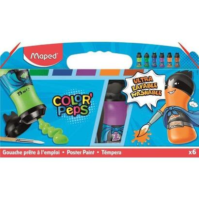 set-6-temperas-maped-color-peps-810011-textura-untuosa-lavable-en-maquina-formato-botellas-75ml-colores-secundarios