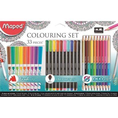 set-33-piezas-maped-897417-para-pintar-mandalas-contiene-10-rotuladores-graph-peps-10-rotuladores-color-peps-12-lapices-duo-1-sa
