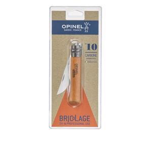 opinel-navaja-de-bolsillo-no-10-carbonklinge-mit-holzgriff