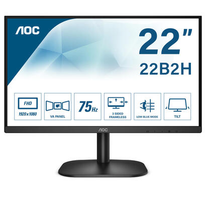monitor-aoc-215-22b2h-19201080-full-hd-169-200cdm2-20m1-65ms-hdmi-vga-flickerfree