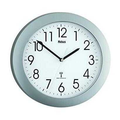 mebus-52451-reloj-de-pared-plateado-o-255-x-255-cm-plastico