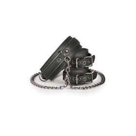 set-de-ligaduras-collar-y-esposas-negro