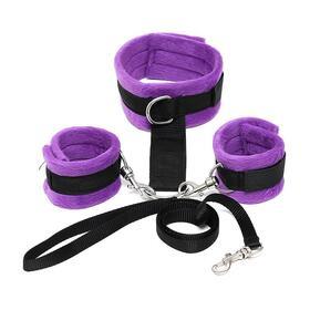 collar-y-esposas-desmontable-purpura-ajustable
