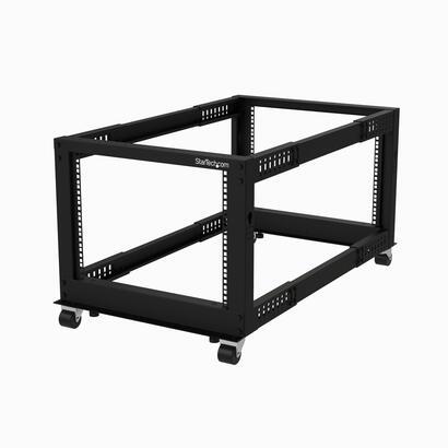 startechcom-rack-de-marco-abierto-de-8u-de-4-columnas-con-profundidad-ajustable