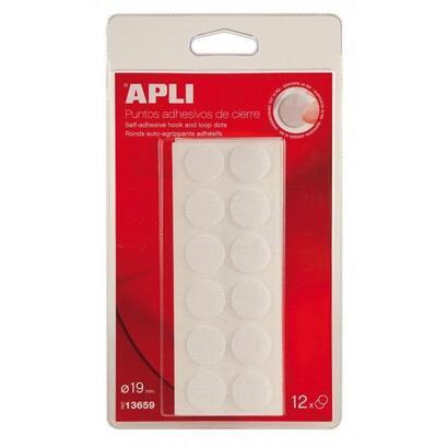 12-puntos-adhesivos-de-cierre-apli-13659-blancos-velcro-o-19mm-adhesivo-extrafuerte