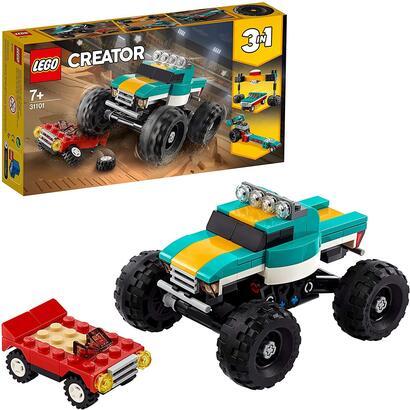 lego-creator-monster-truck-4x4-set-3-en-1-construye-un-dragster-o-un-coche-31101