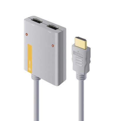alogic-splitter-2-port-hdmi-20-4k-mit-50cm-hdmi-kabel
