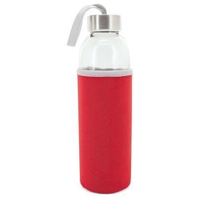 botella-de-cristal-con-funda-neopreno-club-nautico-z-9381-alba-rojo-500ml-2256cm-asa-incorporada