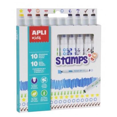 rotuladores-stamps-apli-kids-16807-10-unidades-doble-punta-redondasello-colores-surtidos-para-ninos-a-partir-de-3-anos