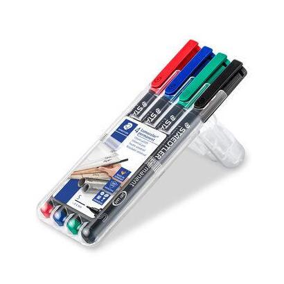 staedtler-rotulador-permanente-lumocolor-punta-04mm-313-estuche-cuatro-unidades