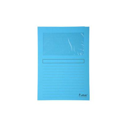 paquete-25-subcarpetas-azul-con-ventana-120gm2-cierre-en-forma-de-l-tenida-en-la-masa-exaclair