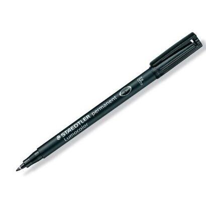 rotulador-permanente-staedtler-negro-punta-f-06mm-lumocolor-superfino-caja-10-uds