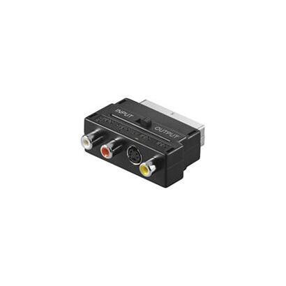 wentronic-avk-196-scart-3x-rca-1x-mini-din-4-pin-machohembra-negro