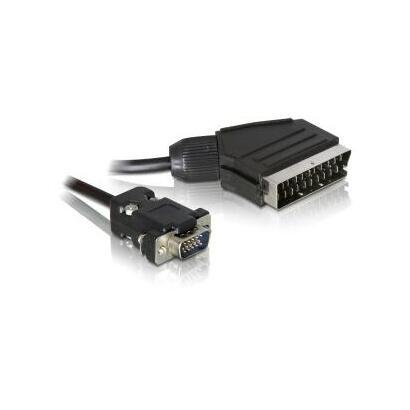 delock-65028-adaptador-de-cable-de-video-2-m-scart-21-pin-vga-d-sub-negro