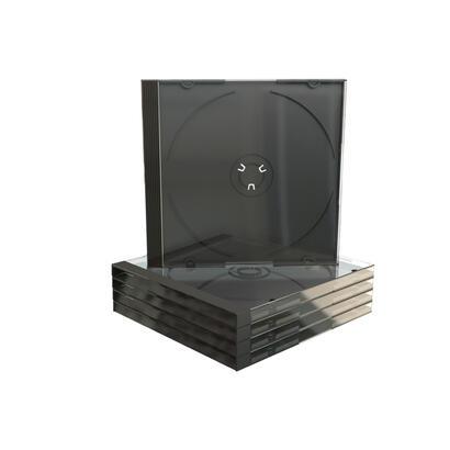 mediarange-box31-funda-para-discos-opticos-caja-transparente-para-cd-1-discos-negro-transparente-5-uds