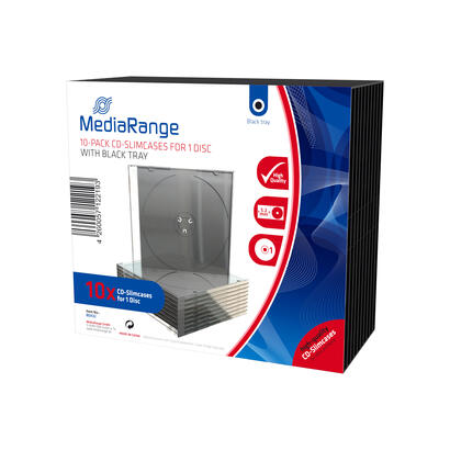 mediarange-box32-funda-para-discos-opticos-funda-de-dvd-1-discos-negro-transparente-10-uds