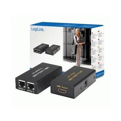 logilink-video-extender-hdmi-over-cat5-hdmi-a-2xrj45-negro