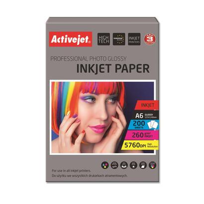 papel-fotografico-activejet-ap6-260gr200-para-impresoras-de-tinta-a6-200-pcs