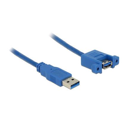 delock-cable-usb-30-alargo-1m-azul-instalacion-en-panel-85112