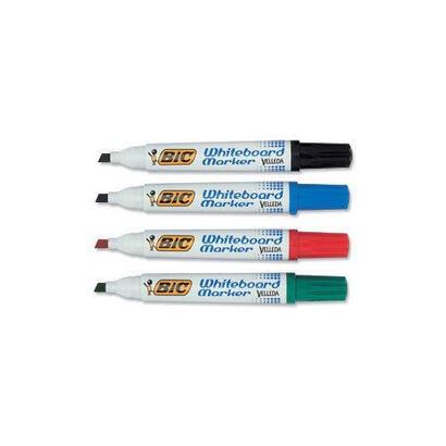 rotulador-marcador-pizarra-blanca-velleda-bic-colores-azul-negro-rojo-verde-punta-redonda-14-mm-blister-904941