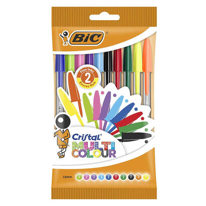 bic-blister-10-unidades-bic-cristal-rojo-azul-verde-negro-lima-turquesa-rosa-lila-amarillo-naranja