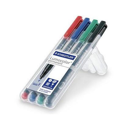 rotulador-permanente-lumocolor-punta-06mm-318-estuche-cuatro-unidades-staedtler