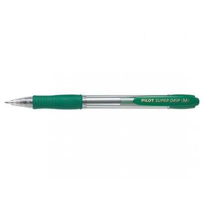pilot-boligrafo-retractil-punta-1mm-super-grip-verde