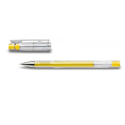 pilot-boligrafo-tinta-gel-para-escritura-fina-y-precisa-con-cuerpo-en-plastico-transparente-amarillo