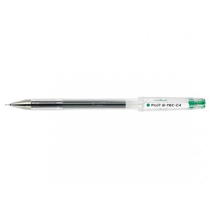 pilot-boligrafo-tinta-gel-para-escritura-fina-y-precisa-con-cuerpo-en-plastico-transparente-verde